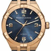 Maurice Lacroix Brons Automatisch Blauw Arabisch 42mm nieuw AIKON