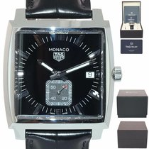 TAG Heuer Monaco Lady pre-owned 37mm Black Leather