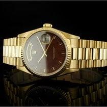 Rolex Day-Date 36 gebraucht 36mm Braun Datum Wochentagsanzeige Gelbgold