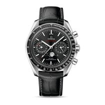 Omega Speedmaster Professional Moonwatch Moonphase Steel Black No numerals
