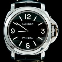 Panerai Luminor Base tweedehands 44mm Zwart Krokodillenleer