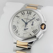 Cartier Ballon Bleu MENS Stainless Steel Gold Chronograph...