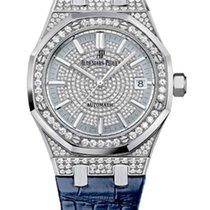 Audemars Piguet Royal Oak 18K White Gold & Diamonds Ladies...