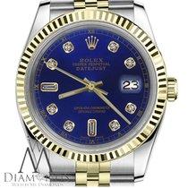 Rolex Datejust 16013 Sehr gut Gold/Stahl 36mm Automatik
