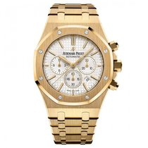 Audemars Piguet Royal Oak Chronograph Yellow gold 41mm Silver No numerals United States of America, New York, Greenvale