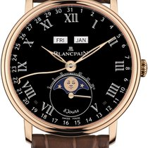 Blancpain Villeret Quantième Complet new Automatic Watch only 6639-3637-55b