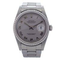 Rolex Datejust Rhodium Silver dial 16220 - Unpolished