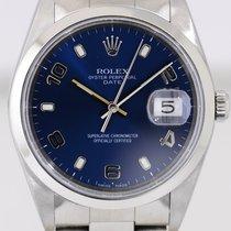 Rolex Date blue arabic Dial Saphirglas Unisex Oyster Stahl...