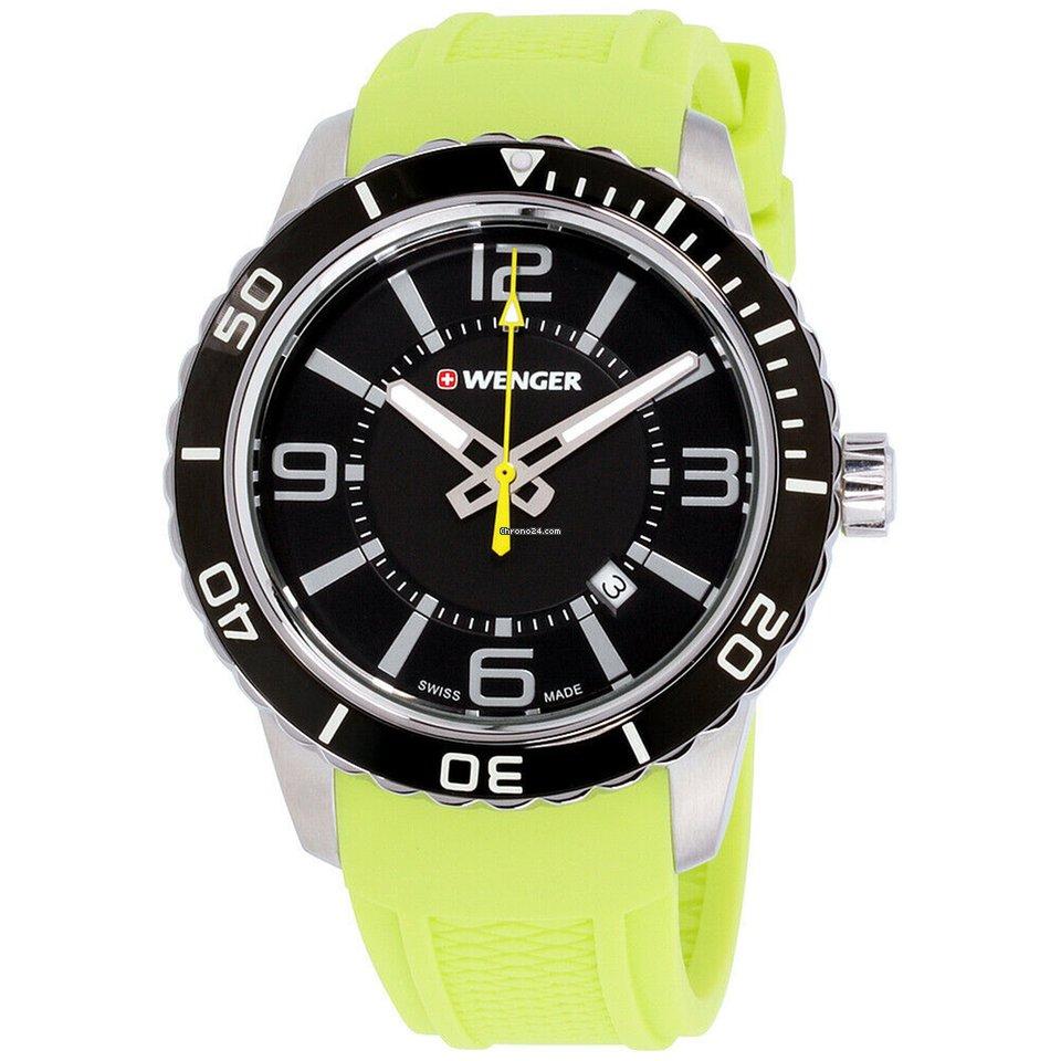 Roadster Quartz Movement Wenger Black Watch Dial Men's 10851115 7f6gyYbv