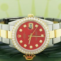 Rolex Oyster Perpetual Date Stahl 34mm Rot