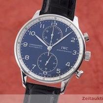 IWC Portuguese Chronograph Stal 41mm Niebieski