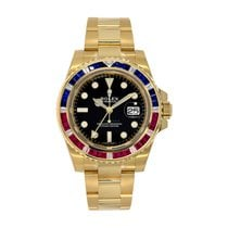 Rolex GMT-Master II Yellow gold 40mm Black