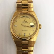 Rolex Day-Date Oysterquartz pre-owned 36mm Gold Date Yellow gold