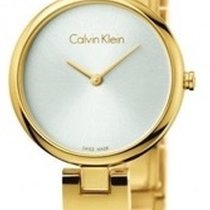 ck Calvin Klein Gold/Steel 28mm Quartz new
