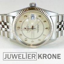 Rolex Datejust Stahl 36mm Weiß Keine Ziffern Deutschland, Düsseldorf-Oberkassel