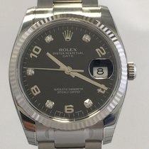 Rolex Oyster Perpetual Date 34mm Stahl/Weißgold Ref. 115234