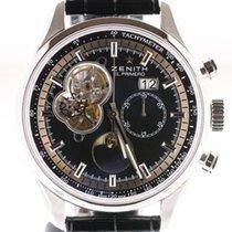 Zenith El Primero Chronomaster Acier 45mm Noir Sans chiffres Belgique