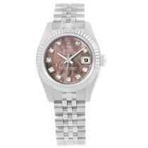 Rolex Datejust 26 Tahitian Mop Diamond Ladies Watch 179174 Box...