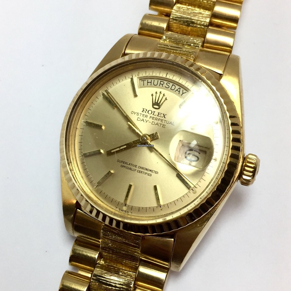 Rolex OYSTER PERPETUAL DAY,DATE 18K Solid Yellow Gold Men\u0027s