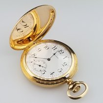 Waltham Hunting Case Pocket Watch 48mm Solid 14k Yellow Gold...