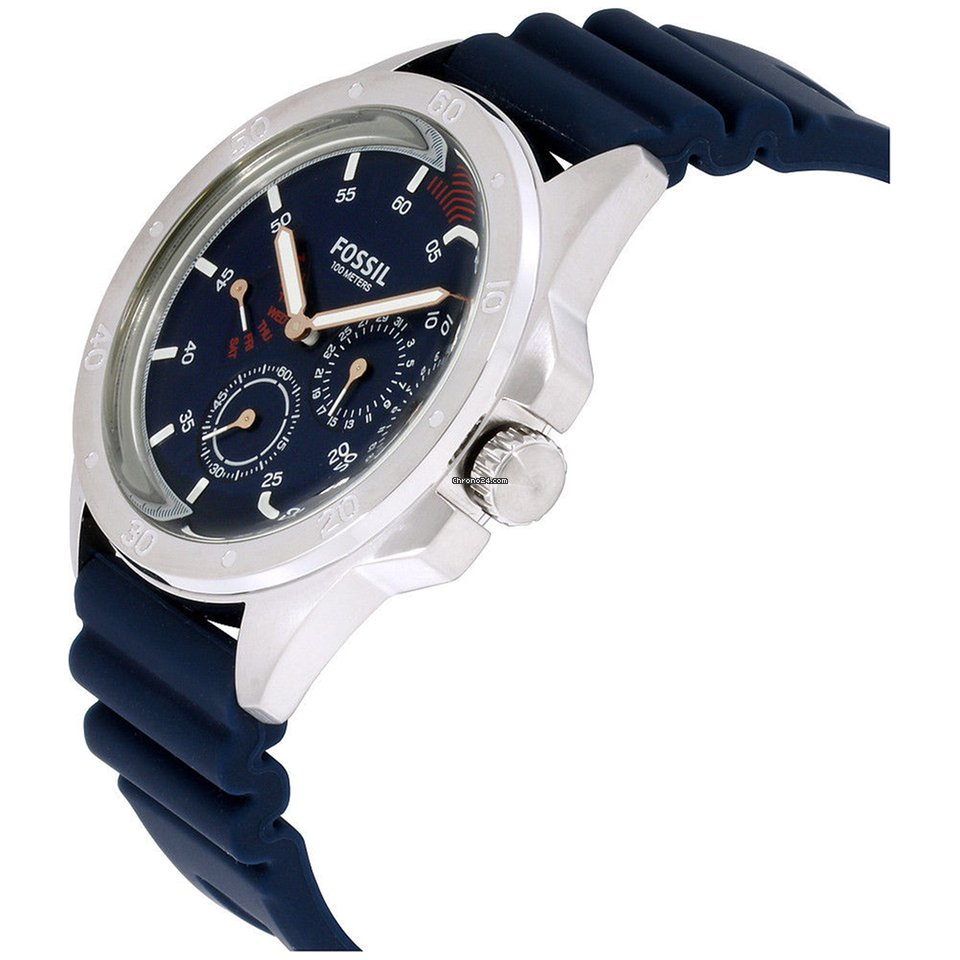 15deece8d Fossil Sport 54 Blue Dial Silicone Strap Men's Watch Ch3062 for $93 for  sale from a Seller on Chrono24