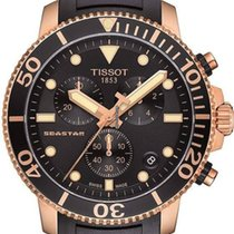 Tissot Seastar 1000 Rose gold 45mm Black