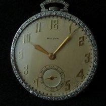Bulova Platinum Silver Arabic numerals 42mm pre-owned Diamond