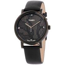 Timex Originals Black Dial Leather Strap Ladies Watch T2p461