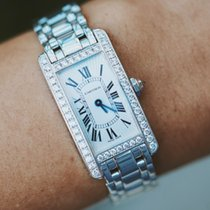Cartier Tank Américaine White gold 19mm Roman numerals