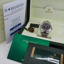 Rolex Datejust II Acciaio 41mm Nero Senza numeri