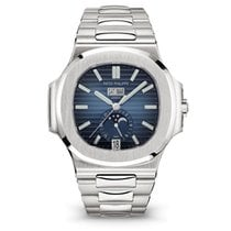 Patek Philippe Steel Automatic Blue new Nautilus