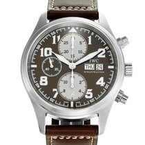 IWC Pilot Chronograph Steel 42mm Black Arabic numerals