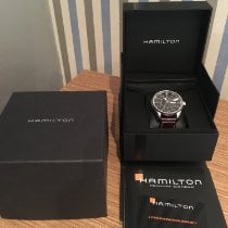 Hamilton Khaki Pilot Day Date pre-owned 46mm Black Date Weekday Leather