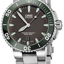 Oris Aquis Date Steel 43mm Grey No numerals