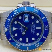 Rolex Oro blanco Automático Azul Sin cifras 40mm nuevo Submariner Date