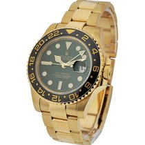 Rolex Used 116718 116718 GMT Master 2 with Green Dial - Yellow...