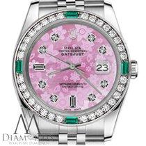Rolex Lady-Datejust Staal 31mm Roze Geen cijfers