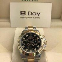 Rolex 8DAYwatch-New 116503GBK DAYTONA GOLD AND STEEL BLACK