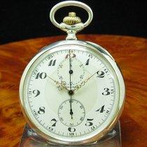 Longines 900 Silber Open Face Lepine Taschenuhr Chronograph