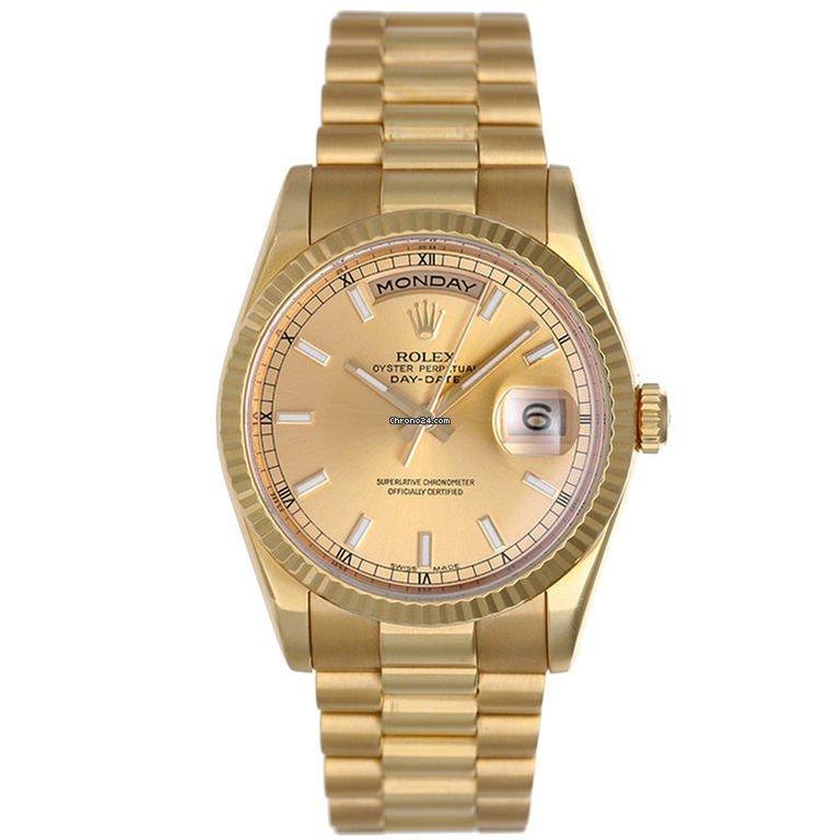 venta caliente online 4c08a 6be28 Rolex Day-Date 118238 Oro amarillo de 18 quila armis Oyster