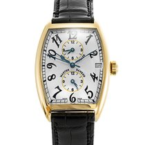 Franck Muller Master Banker pre-owned 31mm Yellow gold
