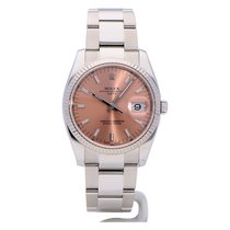 Rolex Oyster Perpetual Date pink index from 2015 complete with...