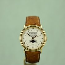 Blancpain Yellow gold Automatic White 34mm pre-owned Villeret Moonphase