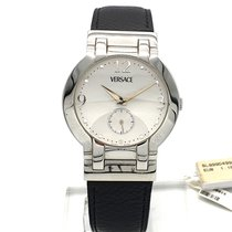 Versace Steel 37mm Quartz 998041-0271 new