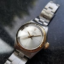 Rolex Oyster Perpetual Gold/Stahl 25mm Silber