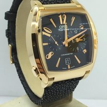 Oris Yellow gold Automatic Silver pre-owned