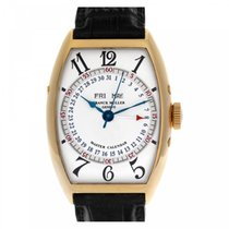 Franck Muller Yellow gold Automatic Silver Arabic numerals 45mm pre-owned Cintrée Curvex
