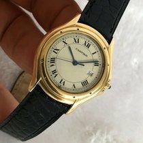 Cartier Cougar Gelbgold 33.5mm Silber Römisch