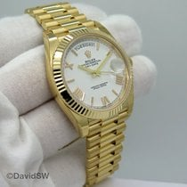 Rolex Day-Date 40 Yellow gold 40mm Silver United States of America, Florida, Orlando