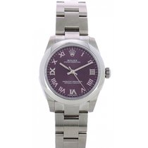 Rolex Oyster Perpetual 31 Steel 31mm Red Roman numerals